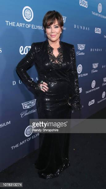 Kris Jenner attends Michael Muller's HEAVEN presented by The Art of Elysium on January 5 2019 in Los Angeles California