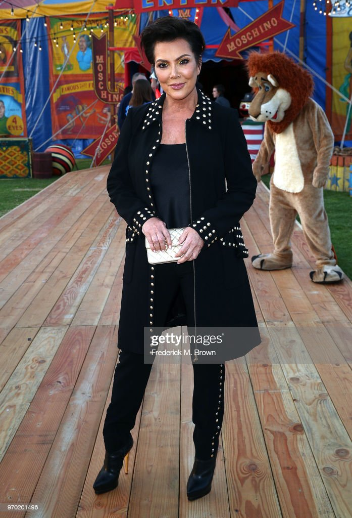 Kris Jenner attends Moschino Spring/Summer 19 Menswear and Women's Resort Collection at the Los Angeles Equestrian Center on June 8, 2018 in Burbank, California.