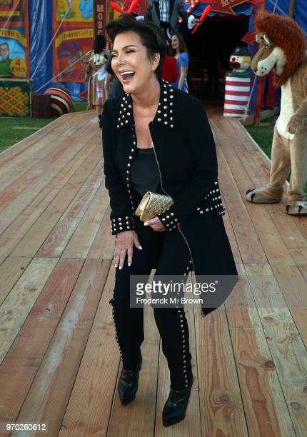 Kris Jenner attends Moschino Spring/Summer 19 Menswear and Women's Resort Collection at the Los Angeles Equestrian Center on June 8 2018 in Burbank...