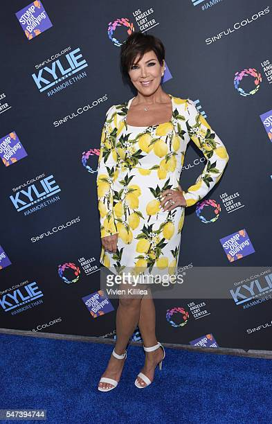Kris Jenner attends SinfulColors and Kylie Jenner Announce charitybuzzcom Auction for Anti Bullying on July 14 2016 in Los Angeles California