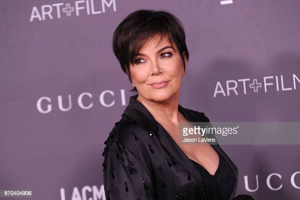 Kris Jenner attends the 2017 LACMA Art Film gala at LACMA on November 4 2017 in Los Angeles California