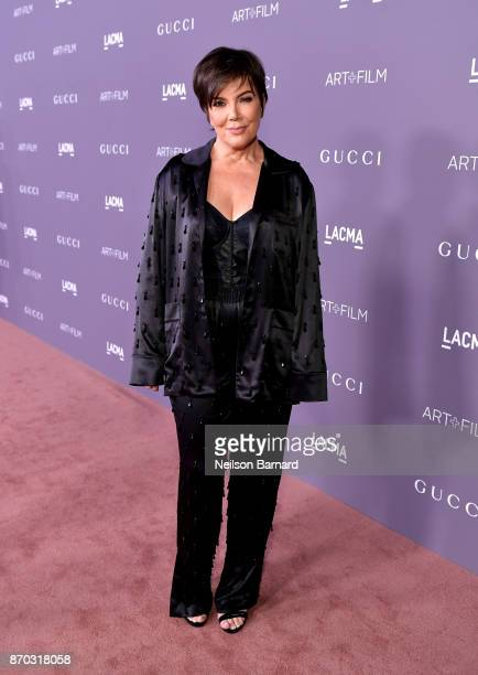 Kris Jenner attends the 2017 LACMA Art Film Gala Honoring Mark Bradford and George Lucas presented by Gucci at LACMA on November 4 2017 in Los...