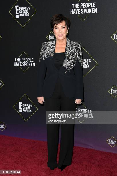 Kris Jenner attends the 2019 E People's Choice Awards at Barker Hangar on November 10 2019 in Santa Monica California