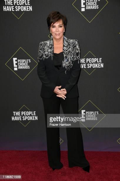 Kris Jenner attends the 2019 E! People's Choice Awards at Barker Hangar on November 10, 2019 in Santa Monica, California.