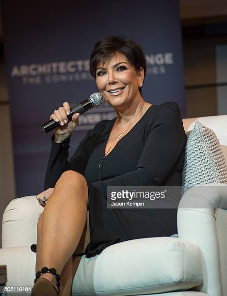 Kris Jenner attends the 'Architects Of Change Maria Shriver And Kris Jenner' conversation at Skirball Cultural Center on January 14 2016 in Los...