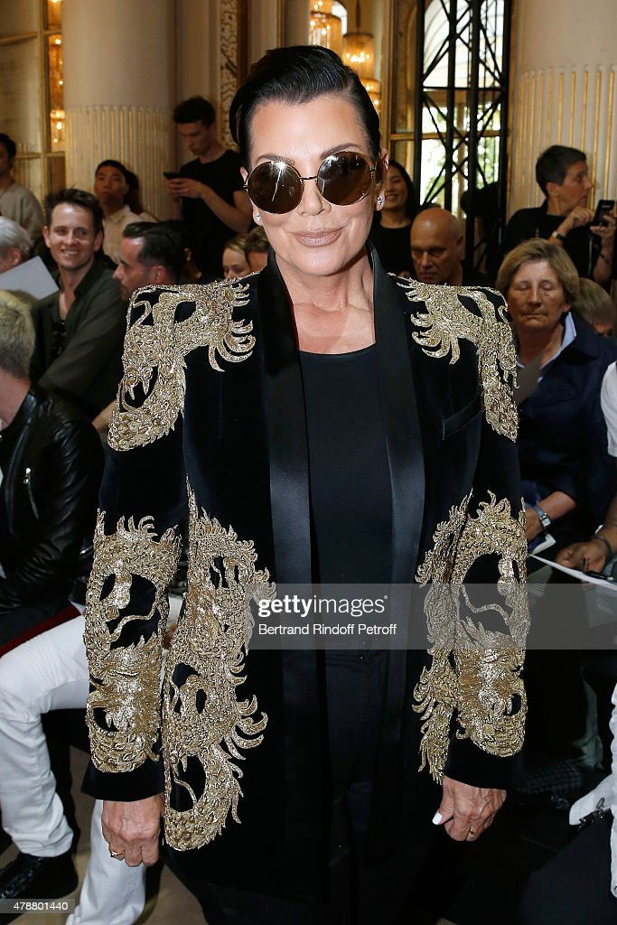 Kris Jenner attends the Balmain Menswear Spring/Summer 2016 show as part of Paris Fashion Week on June 27, 2015 in Paris, France.