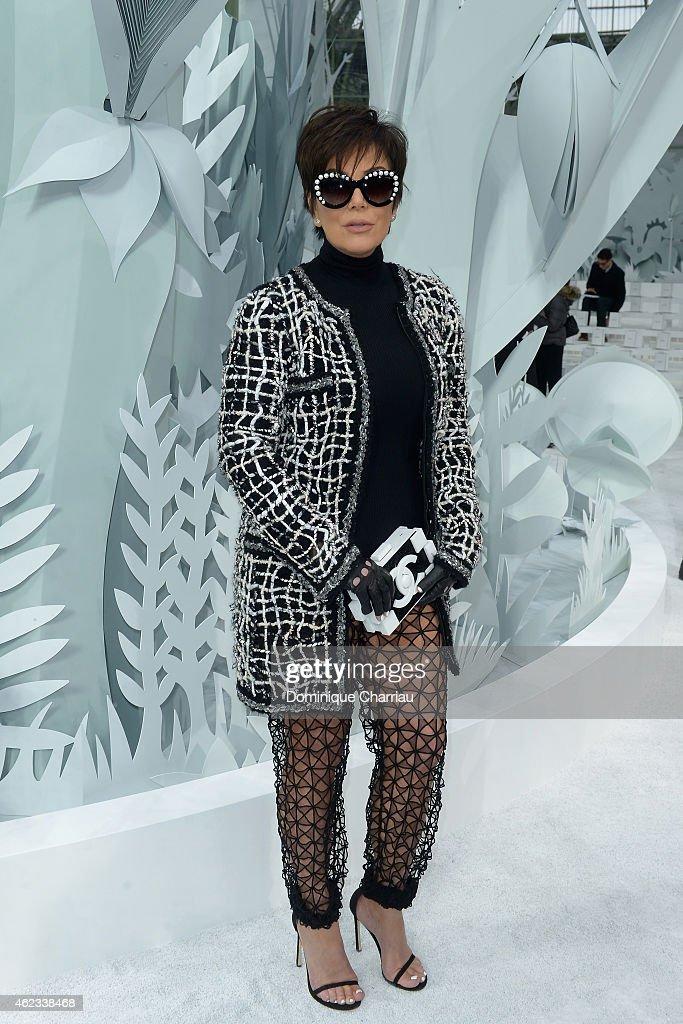 Chanel : Photocall - Paris Fashion Week - Haute Couture S/S 2015 : News Photo