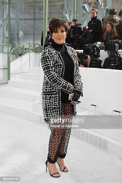 Kris Jenner attends the Chanel show as part of Paris Fashion Week Haute Couture Spring/Summer 2015 on January 27 2015 in Paris France