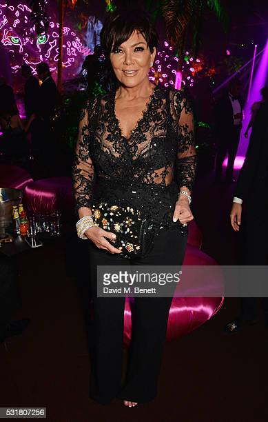 Kris Jenner attends the Chopard Wild Party during the 69th Annual Cannes Film Festival at Port Canto on May 16 2016 in Cannes