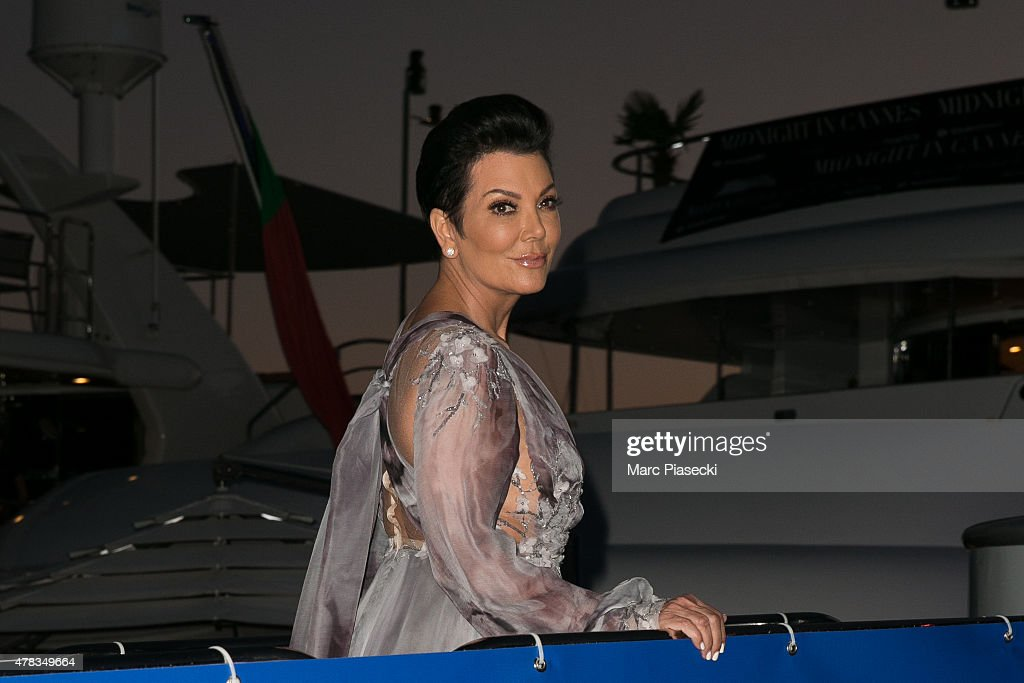 Kris Jenner attends the 'DailyMail.com Seriously Popular Yacht Party' on June 24, 2015 in Cannes, France.
