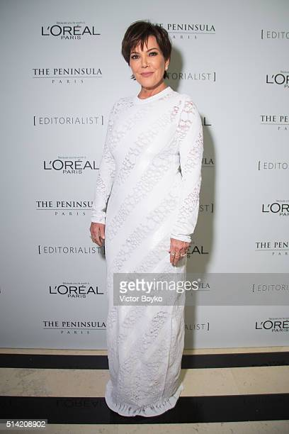 Kris Jenner attends the Editorialist Spring/Summer 2016 Issue Launch Party at the Hotel Peninsula as part of the Paris Fashion Week Womenswear...