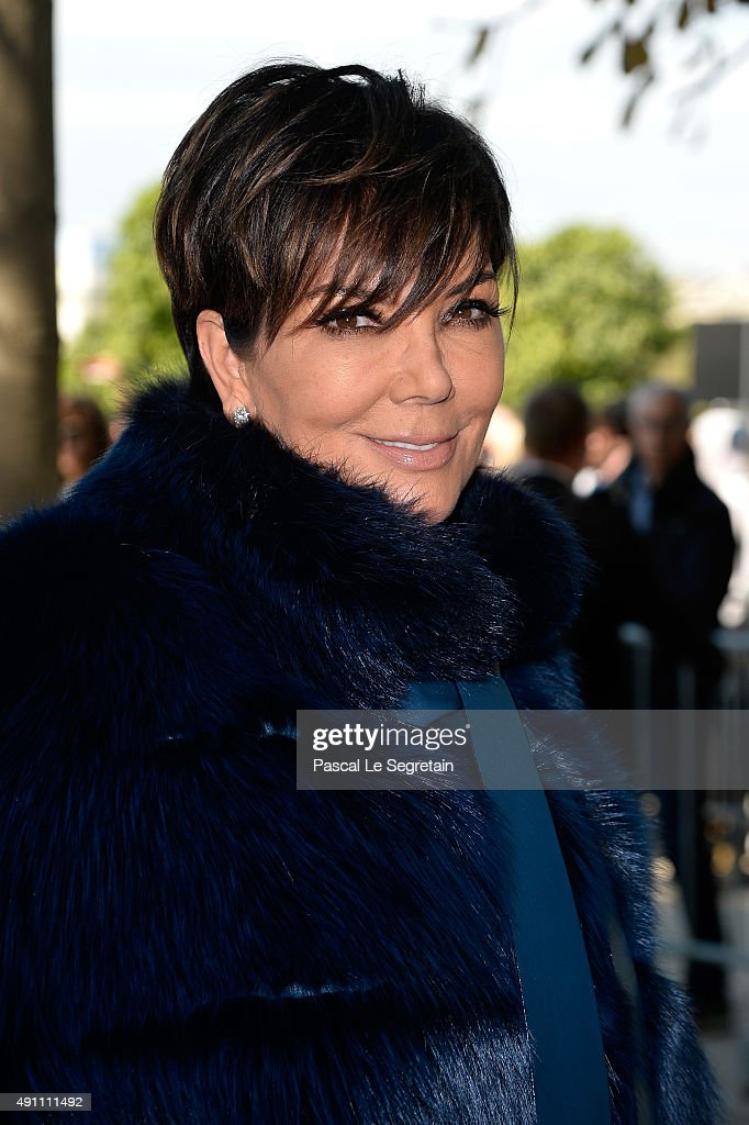 Kris Jenner attends the Elie Saab show as part of the Paris Fashion Week Womenswear Spring/Summer 2016 on October 3, 2015 in Paris, France.