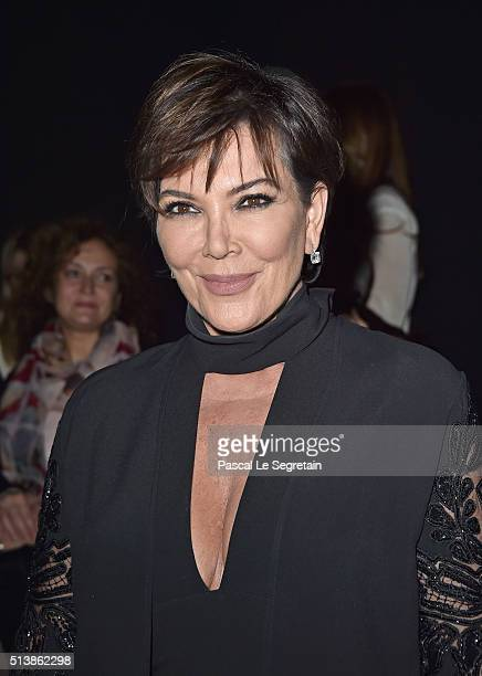 Kris Jenner attends the Elie Saab show as part of the Paris Fashion Week Womenswear Fall/Winter 2016/2017 on March 5 2016 in Paris France