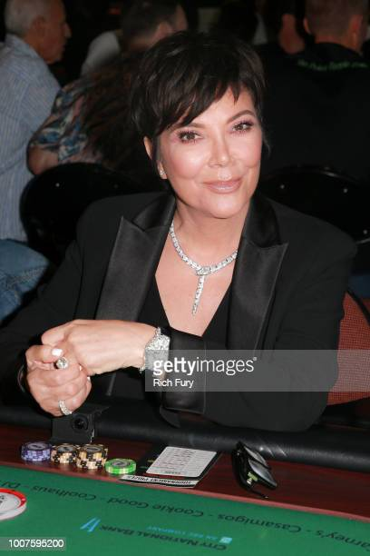Kris Jenner attends the first annual If Only Texas hold'em charity poker tournament benefiting City of Hope at The Forum on July 29 2018 in Inglewood...