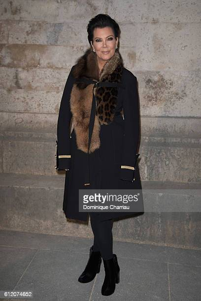 Kris Jenner attends the Givenchy show as part of the Paris Fashion Week Womenswear Spring/Summer 2017 on October 2 2016 in Paris France