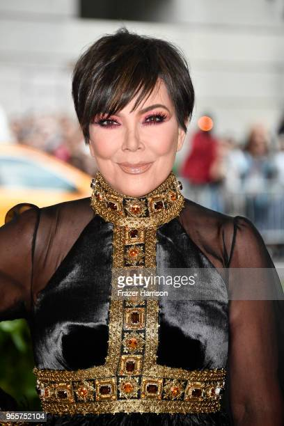 Kris Jenner attends the Heavenly Bodies Fashion The Catholic Imagination Costume Institute Gala at The Metropolitan Museum of Art on May 7 2018 in...