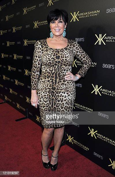 Kris Jenner attends the Kardashian Kollection Launch Party at The Colony on August 17 2011 in Hollywood California