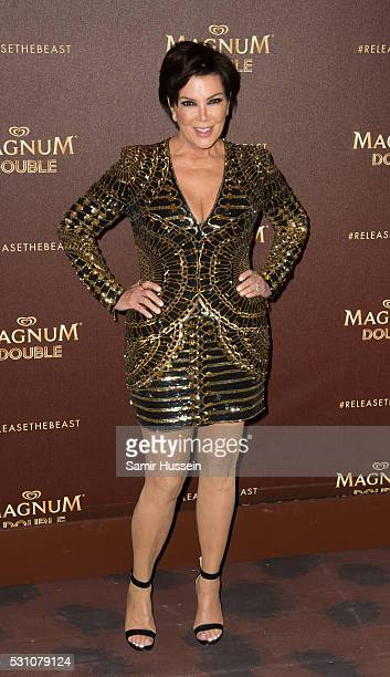 Kris Jenner attends the Magnum Doubles Party at the annual 69th Cannes Film Festival at Plage Magnum on May 12 2016 in Cannes France
