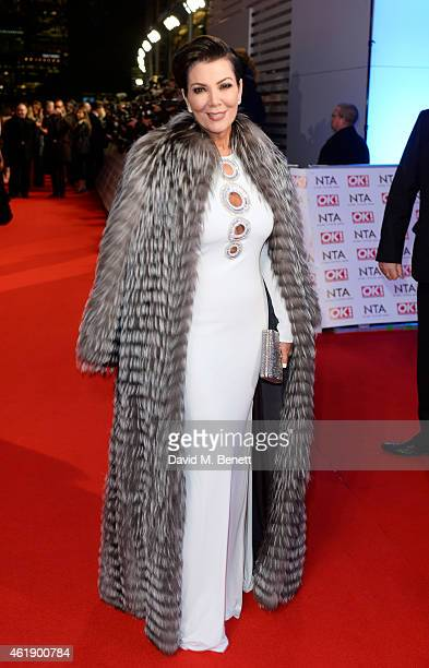 Kris Jenner attends the National Television Awards at 02 Arena on January 21 2015 in London England