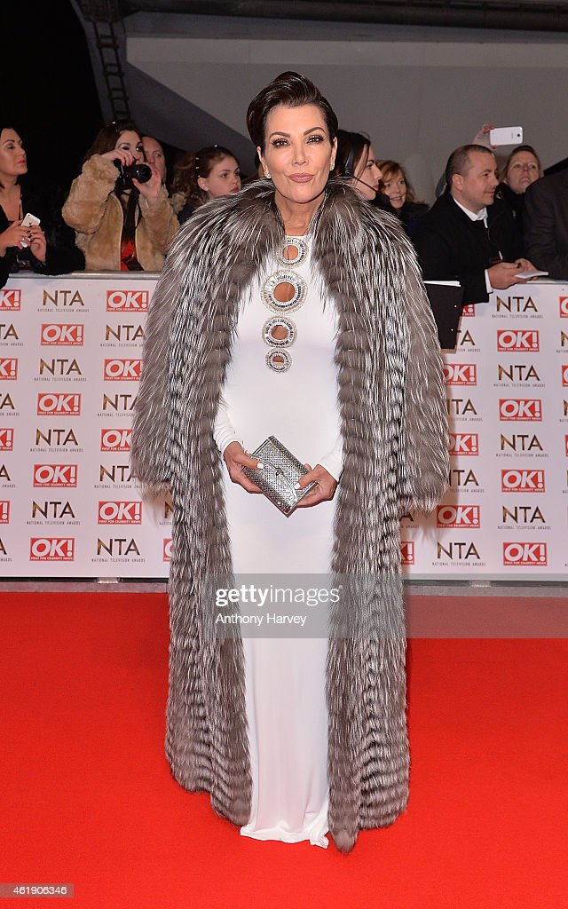 Kris Jenner attends the National Television Awards at 02 Arena on January 21, 2015 in London, England.