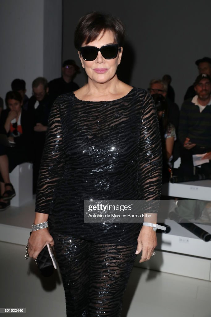 Kris Jenner attends the Versace show during Milan Fashion Week Spring/Summer 2018 on September 22, 2017 in Milan, Italy.