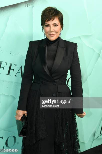 Kris Jenner attends Tiffany Co Celebrates 2018 Tiffany Blue Book Collection THE FOUR SEASONS OF TIFFANY at Studio 525 on October 9 2018 in New York...