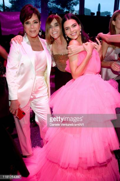 Kris Jenner Carine Roitfeld and Kendall Jenner attend the amfAR Cannes Gala 2019 at Hotel du CapEdenRoc on May 23 2019 in Cap d'Antibes France