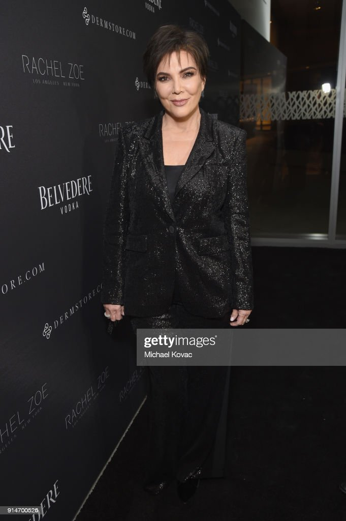 Kris Jenner celebrates with Belvedere Vodka at the Rachel Zoe Fall 2018 Presentation in West Hollywood, California.