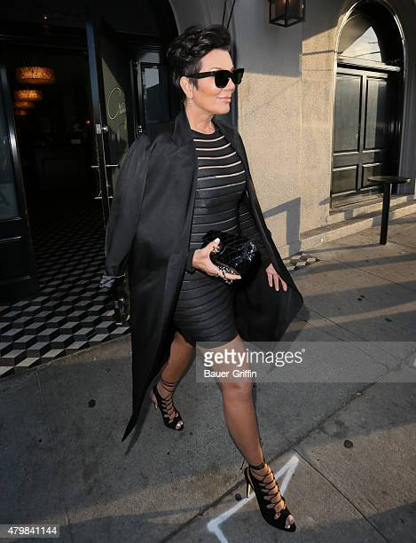 Kris Jenner is seen at Craig's restaurant on July 07 2015 in Los Angeles California
