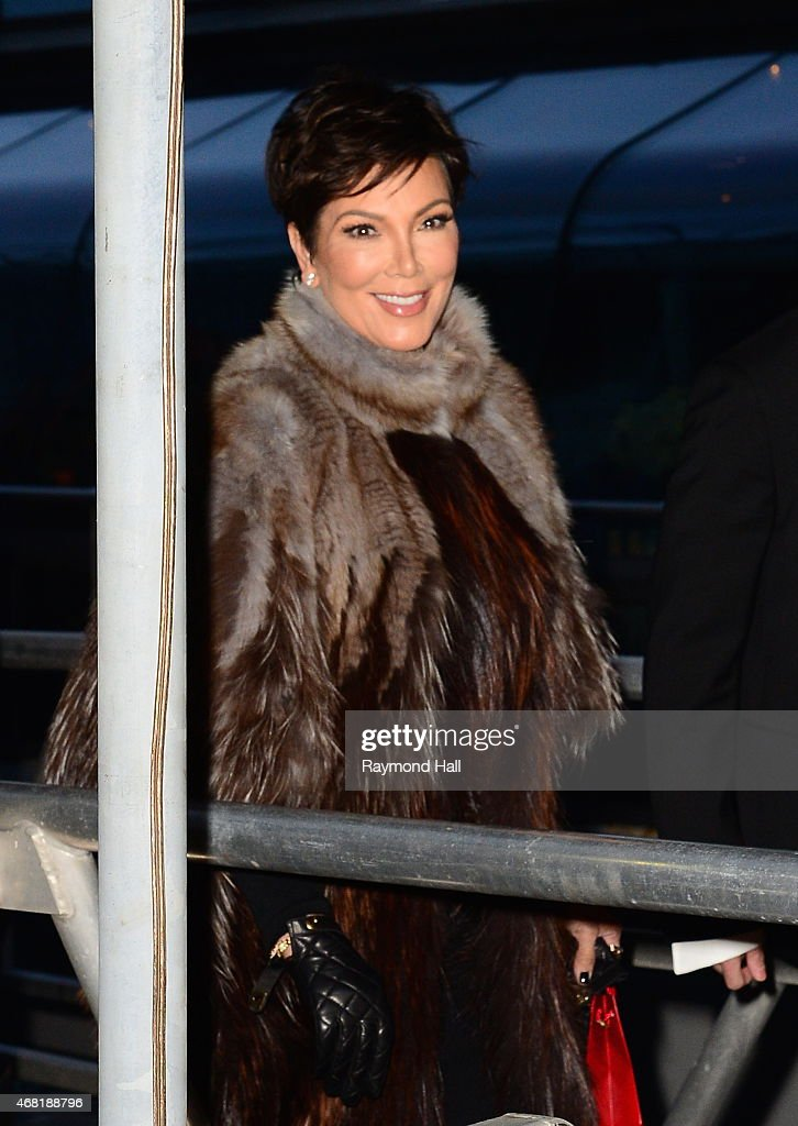 Kris Jenner is seen at the Chanel yacht party at Chelsea Pier on March 30, 2015 in New York City.
