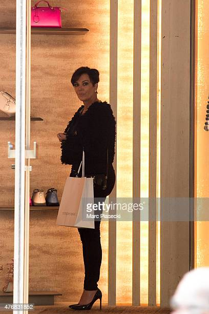 Kris Jenner is seen at the  Fendi  store on Avenue Montaigne on June 12 52689b16e80