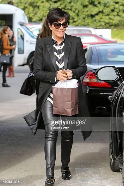 Kris Jenner is seen in Los Angeles on December 15 2014 in Los Angeles California