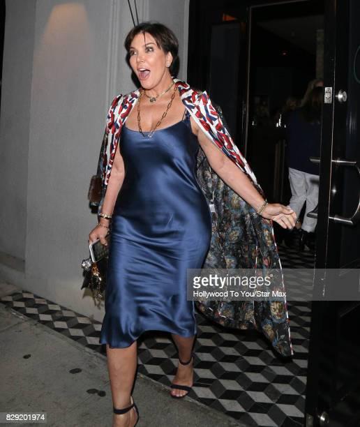 Kris Jenner is seen on August 9 2017 in Los Angeles CA