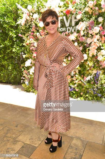 Kris Jenner joins Talita von Furstenberg in celebrating her first collection for DVF at Chateau Marmont's Bar Marmont on April 25, 2019 in Hollywood,...