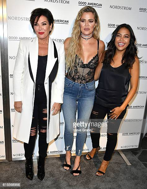Kris Jenner, Khloe Kardashian, Emma Grede Good American Launch Event at Nordstrom at the Grove on October 18, 2016 in Los Angeles, California.