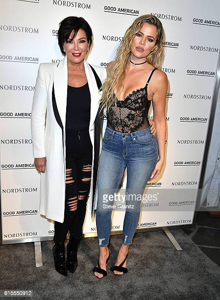 Kris Jenner Khloe Kardashian Good American Launch Event at Nordstrom at the Grove on October 18 2016 in Los Angeles California