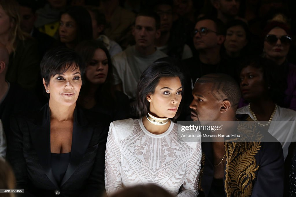 Balmain : Front Row - Paris Fashion Week Womenswear Spring/Summer 2015 : News Photo