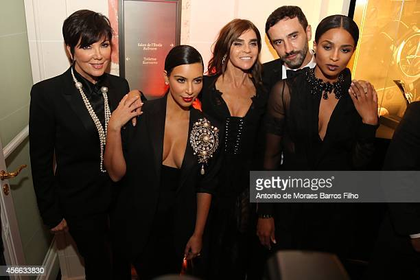 Kris Jenner Kim Kardashian Carine Roitfeld Riccardo Tisci and Ciara attend the CR Fashion Book Issue No5 Launch Party hosted by Carine Roitfeld and...