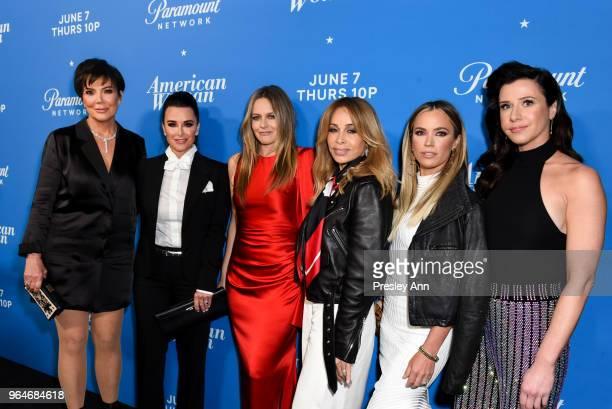 Kris Jenner Kyle Richards Alicia Silverstone Faye Resnick Teddi Mellencamp Arroyave and Jennifer Bartels attend Premiere Of Paramount Network's...
