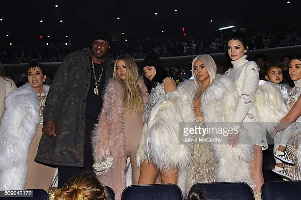 Kris Jenner Lamar Odom Khloe Kardashian Kylie Jenner Kim Kardashian Kendall Jenner North West and Kourtney Kardashian attend Kanye West Yeezy Season...