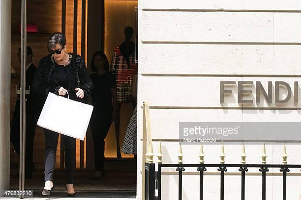 Kris Jenner leaves the  Fendi  store on Avenue Montaigne on June 12 2015 in 24da7206bba