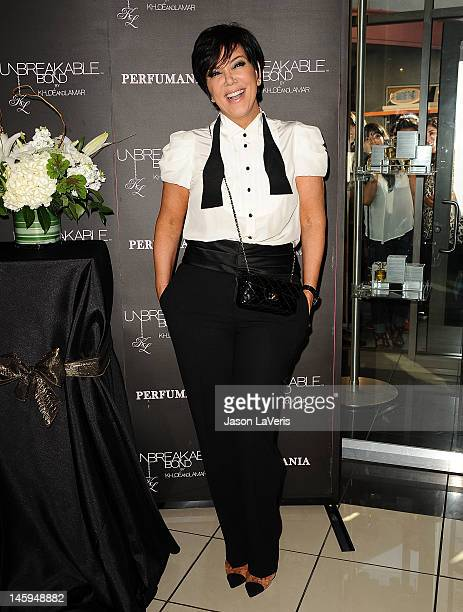 Kris Jenner makes a personal appearance for 'Unbreakable Bond' at Perfumania on June 7 2012 in Orange California