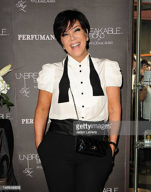 Kris Jenner makes a personal appearance for Unbreakable Bond at Perfumania on June 7 2012 in Orange California