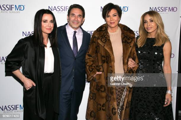 Kris Jenner Paul S Nassif Kris Jenner and Faye Resnick arrive for Dr Paul Nassif's unveiling of his new medical spa with grand opening and...