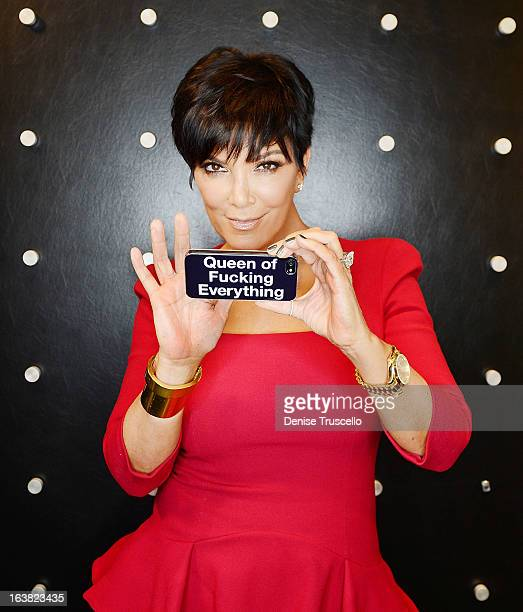 Kris Jenner portrait shoot at The Mirage Hotel Casino on March 16 2013 in Las Vegas Nevada