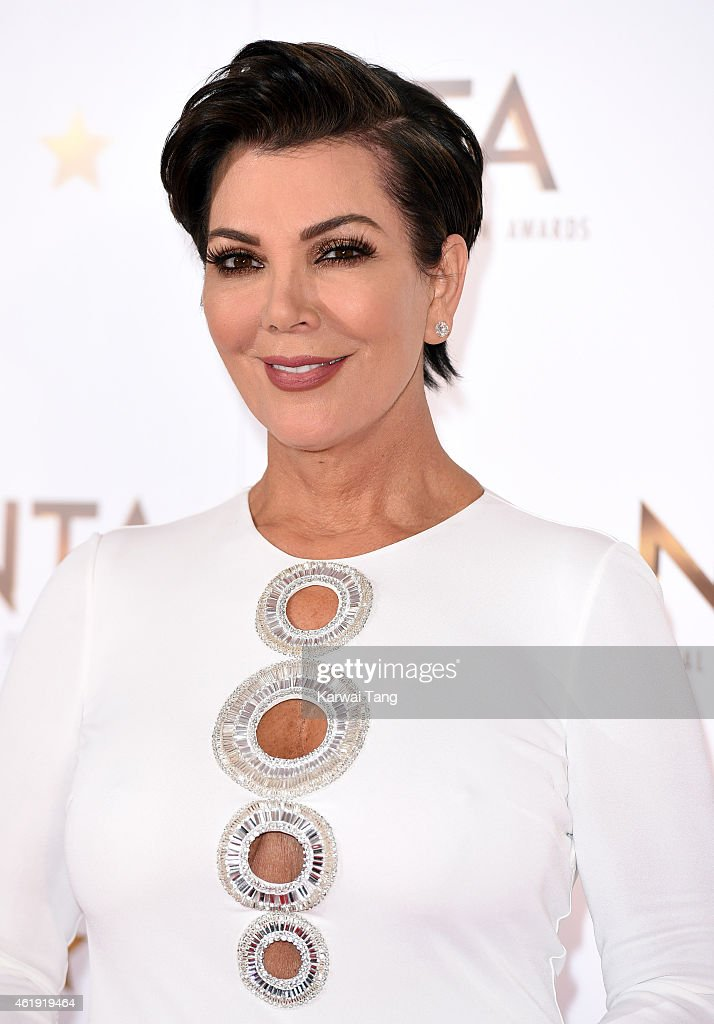 Kris Jenner poses in the winners room at the National Television Awards at 02 Arena on January 21, 2015 in London, England.