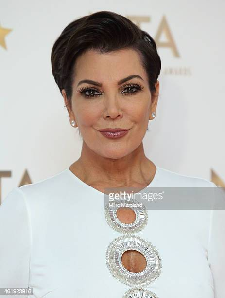 Kris Jenner poses in the winners room at the National Television Awards at 02 Arena on January 21 2015 in London England