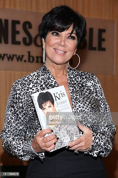 Kris Jenner promotes her new book Kris JennerAnd All Things Kardashian at Barnes Noble 86th Lexington on November 3 2011 in New York City