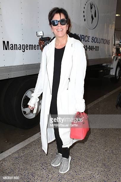 Kris Jenner seen at LAX arriving from London on July 14 2015 in Los Angeles California