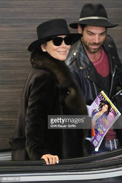 Kris Jenner seen at LAX on January 20, 2015 in Los Angeles, California.